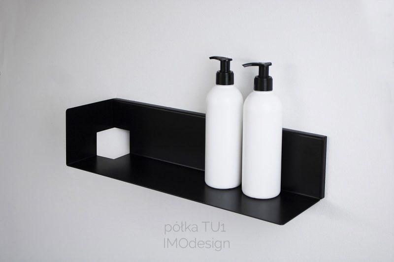 czarna półka łazienkowa TU1 IMOdesign