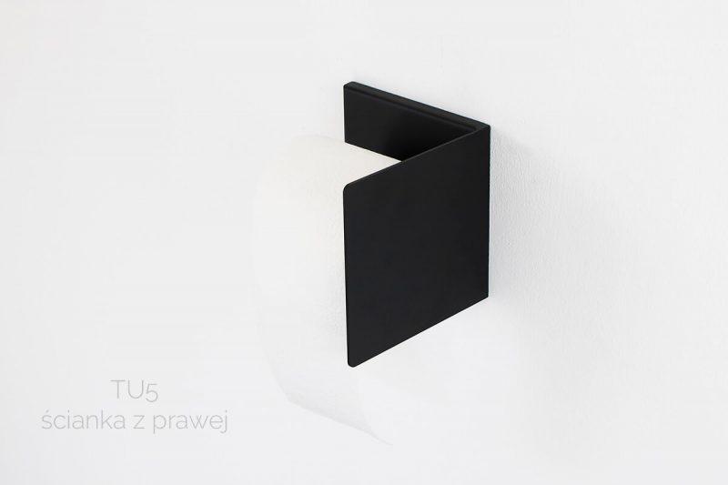 czarny uchwyt na papier TU5 prawy IMOdesign