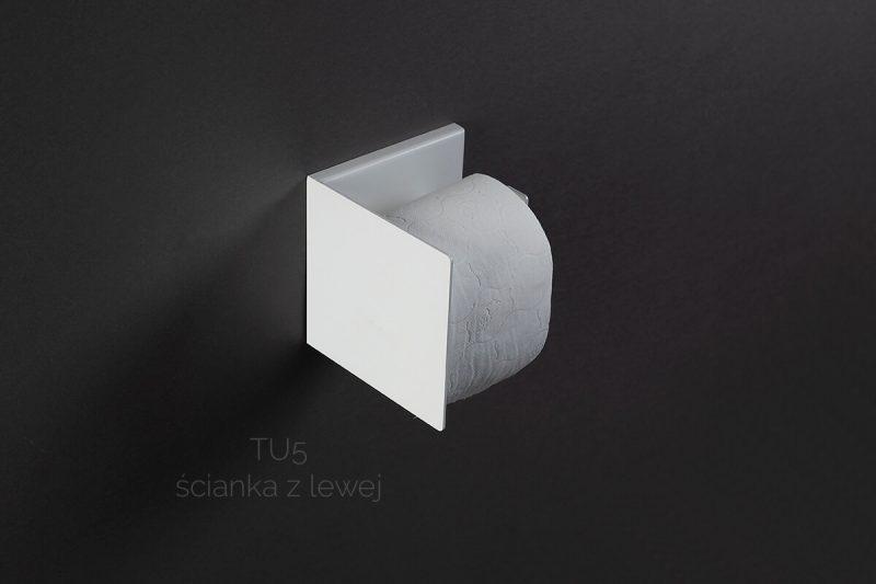 biały uchwyt na papier TU5 lewy