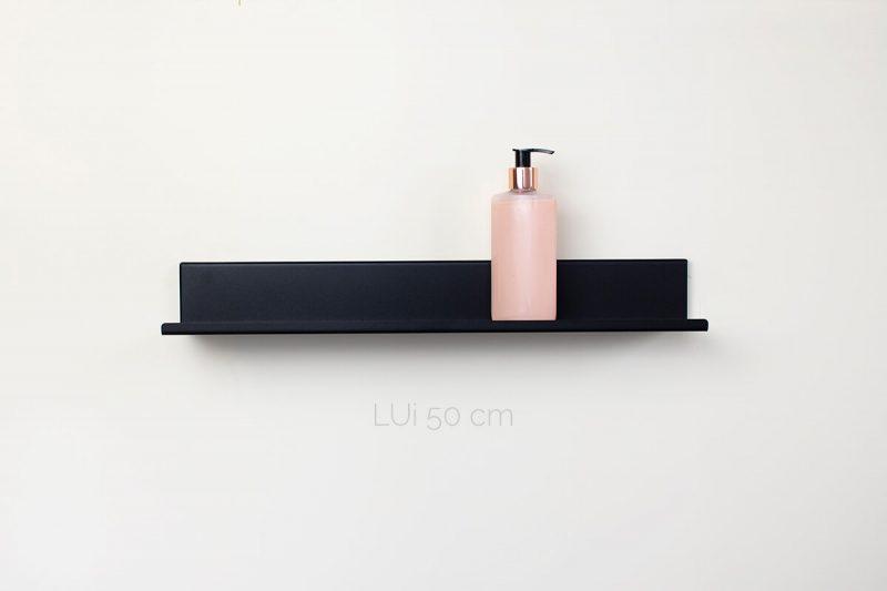 czarna półka łazienkowa LUi 50 cm IMOdesign