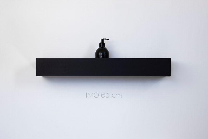 czarna półka pod prysznic IMO 60 cm IMOdesign