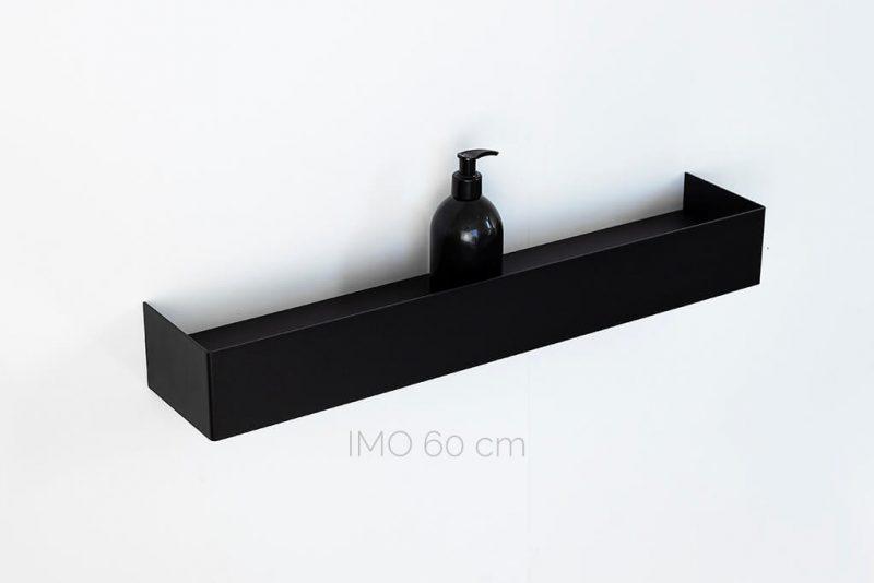 czarna półka IMO 60 cm IMOdesign