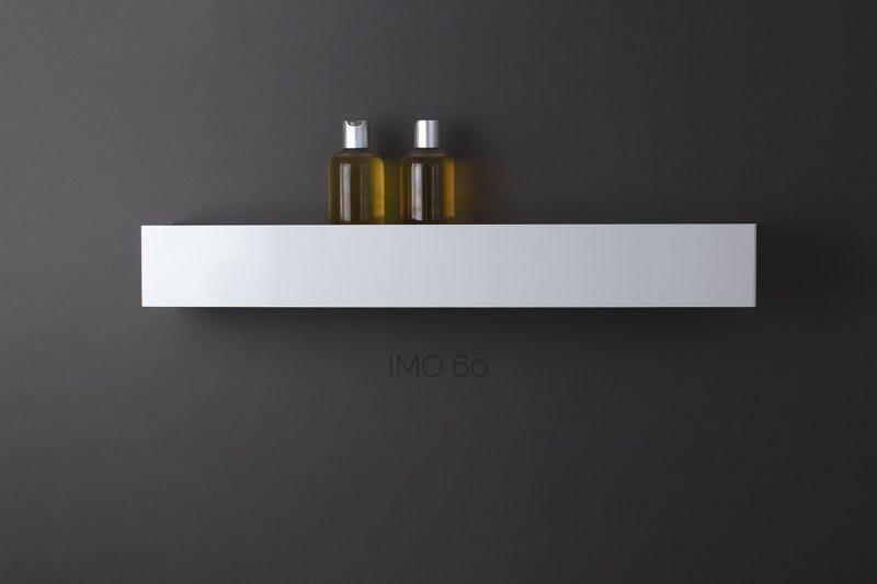 biała półka pod prysznic IMO 60 cm IMOdesign