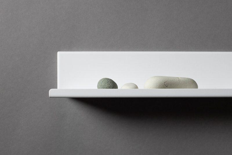 biał półko LUi 70 cm ral 9003 drobna struktura IMOdesign