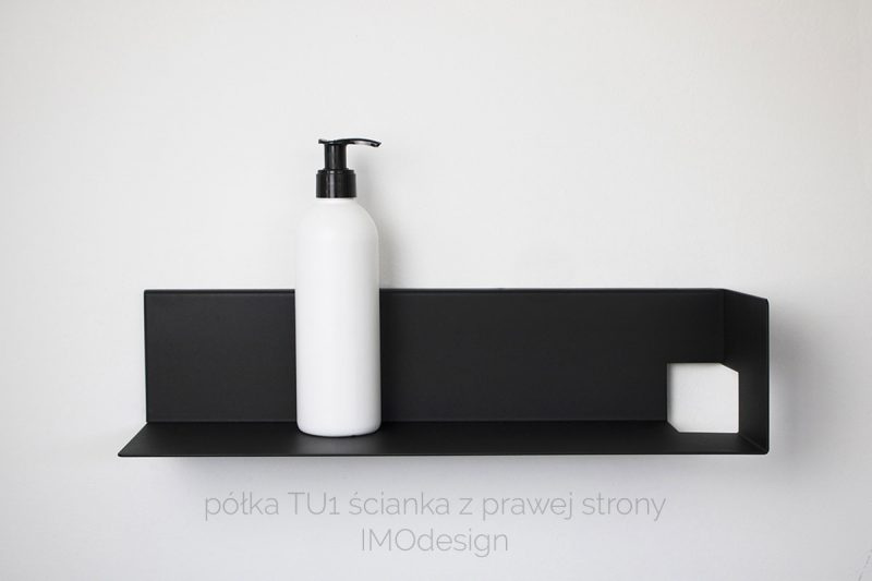 czarna nowoczesna półka TU1 IMOdesign