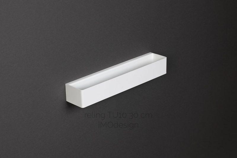 biały reling TU10 30 cm