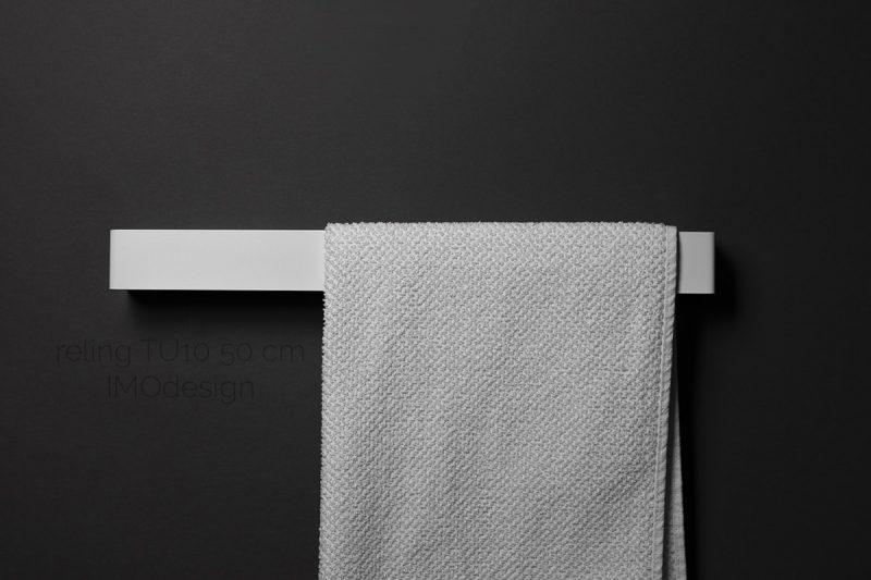 biały reling TU10 50 cm