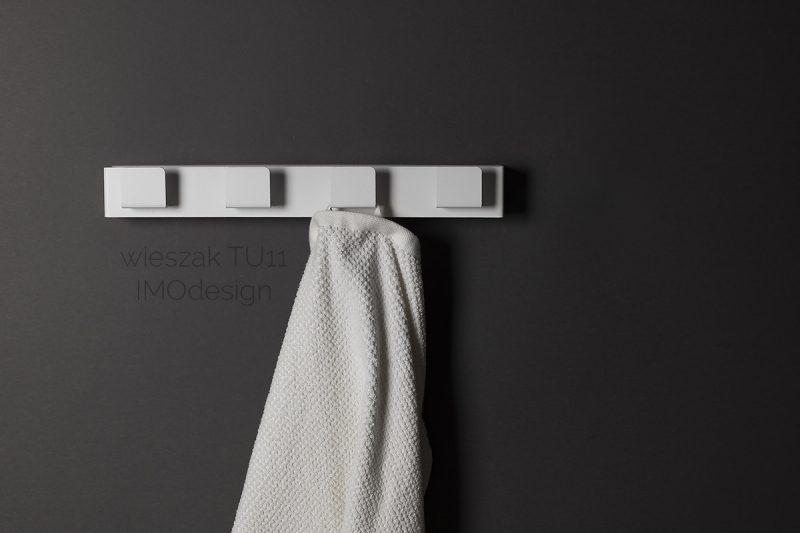 biały wieszak TU11 IMOdesign