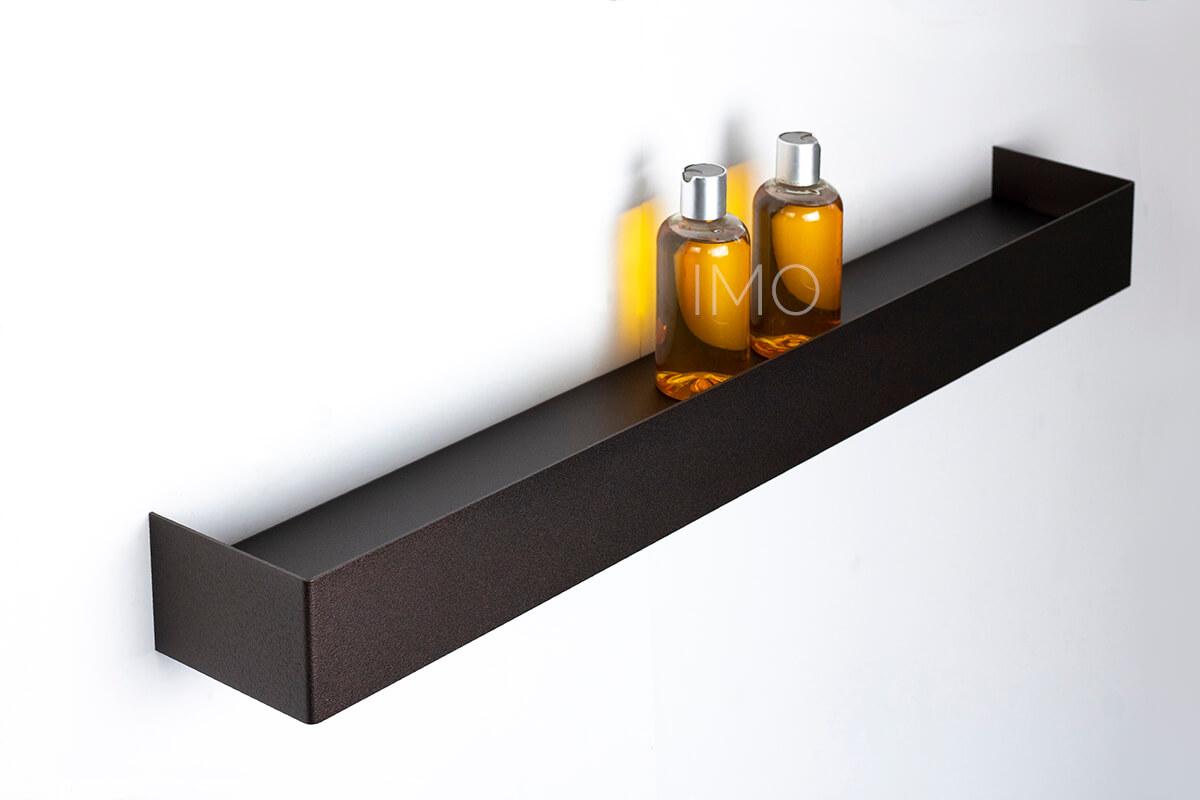 brązowa półka pod prysznic IMO 80 cm