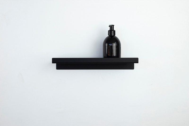 czarna półka pod prysznic 30 cm IMOdesign